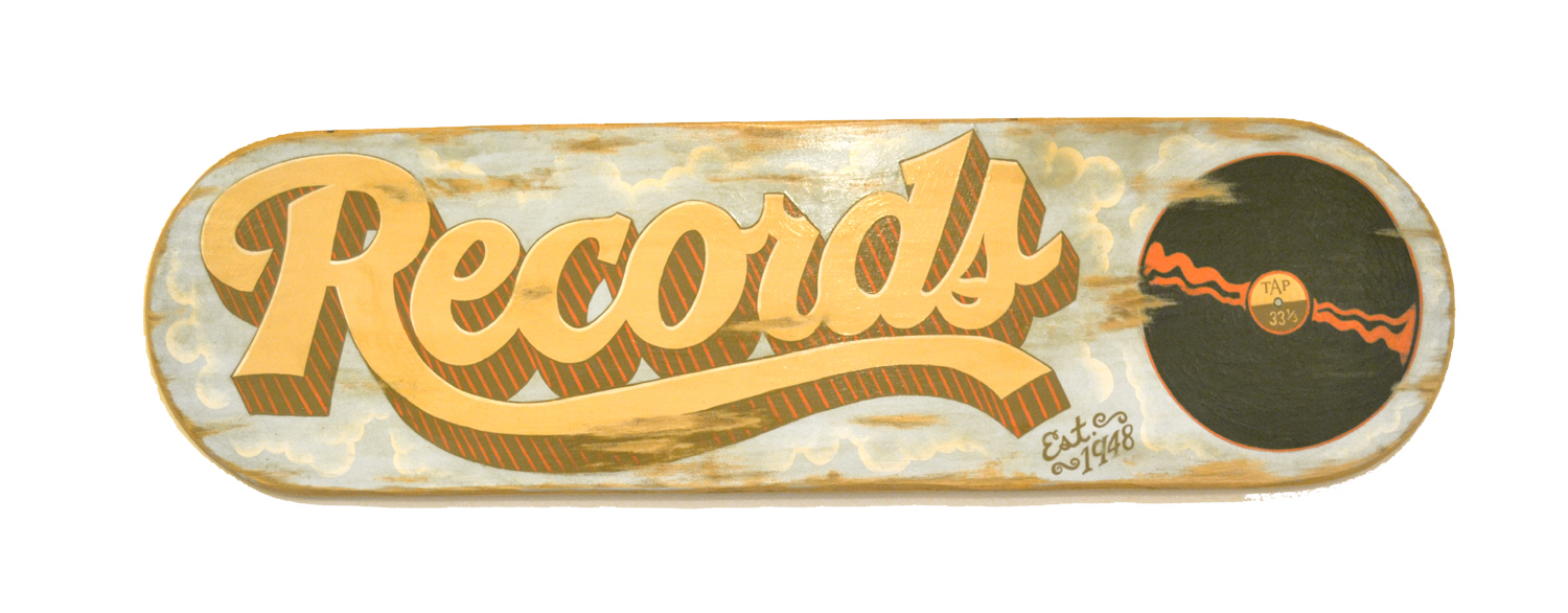 Vintage records sign remake | Anthony Purcell