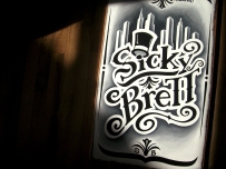 stage sign for Sicky Brett