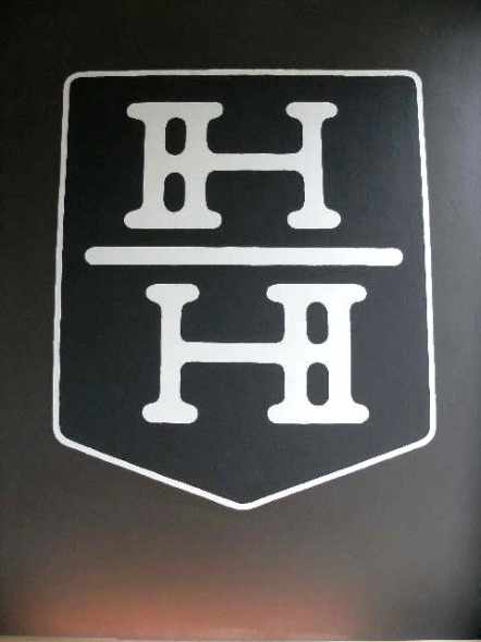 Harvard and Highland, painted sign