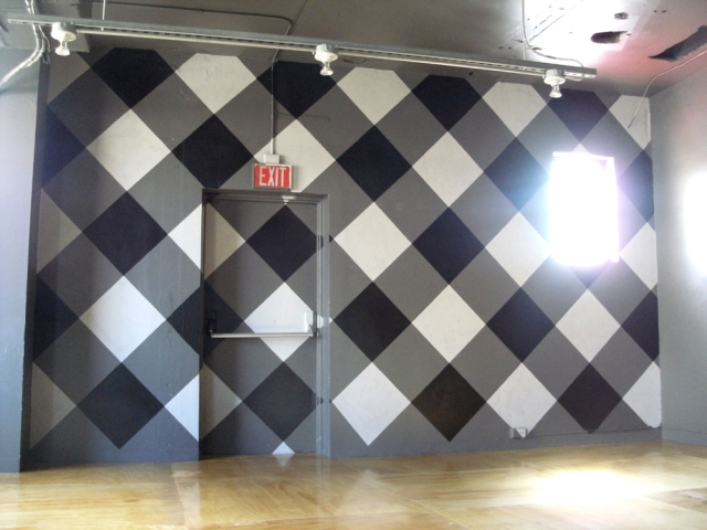 Shining Floors reflect the gingham! Floors by Kevin Sousa and buddy Jason.