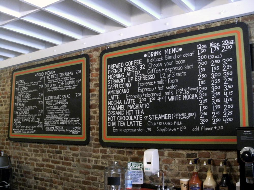 Cafe  Pittsburgh Menu