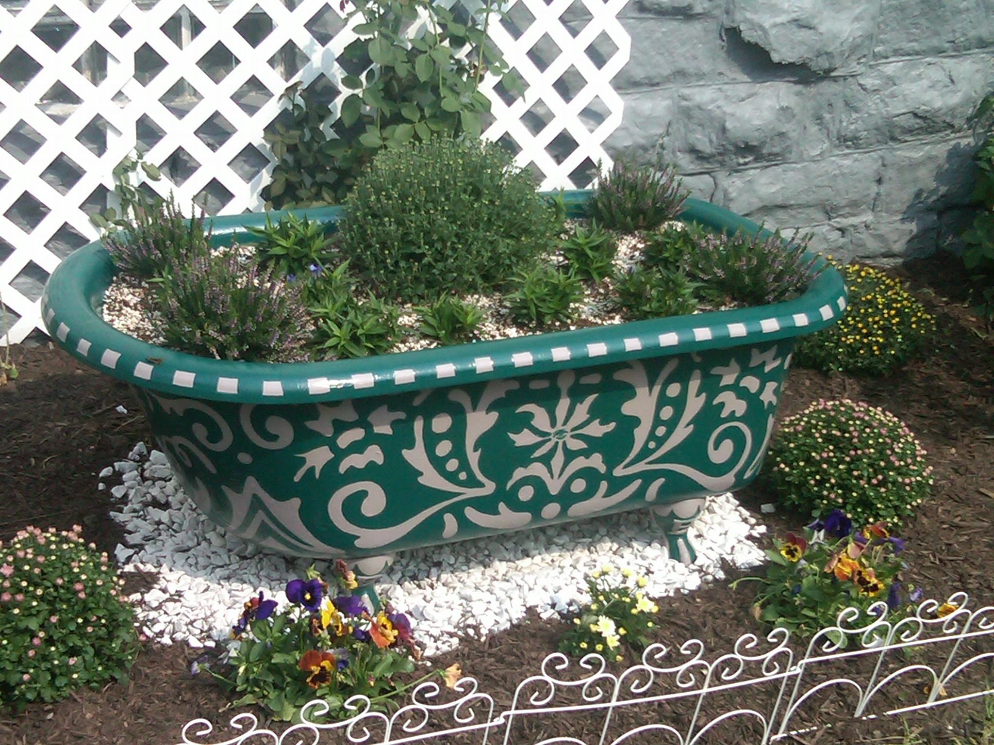 Custom Cast Iron Bathtub Planter Anthony Purcell 39 S Work