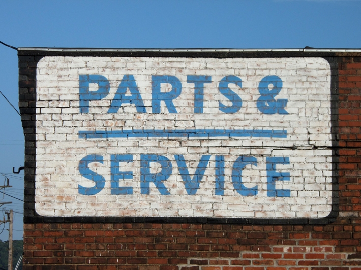 As a final touch, the paint has been distressed giving the sign an aged look