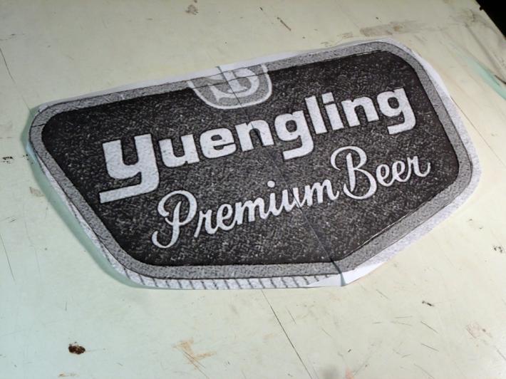 the vintage logo is printed
